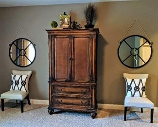 accent chairs armoire wardrobe