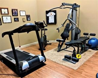 Fitness equipment exercise equipment, treadmill, exercise bike, weights, home gym balance ball