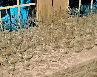 wine glasses, bar glasses and stemware