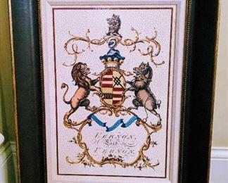 lions crest art