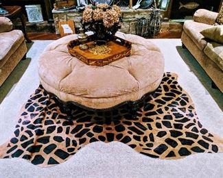 animal print cowhide rug