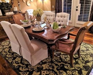 dining table chairs and leaf