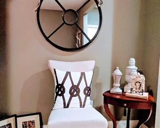 chair mirror end table