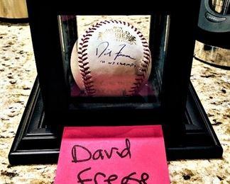 David Freese autographed signed baseball