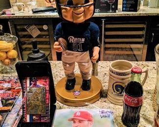 St. Louis Cardinals, Rams sports memorabilia