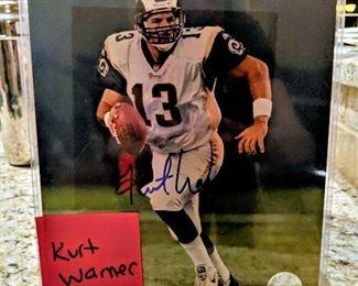Kurt Warner autographed signed sports memorabilia