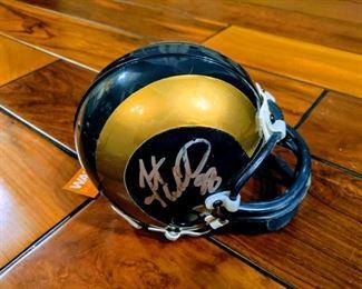 autographed signed mini helmet