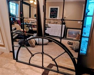 3 piece mirror wall art