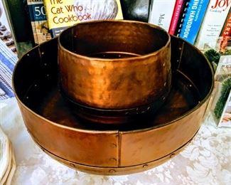hammered copper nesting bowls