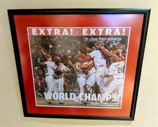 ST. Louis Cardinals baseball newspaper