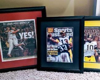 ST. Louis Cardinals baseball Rams newspaper