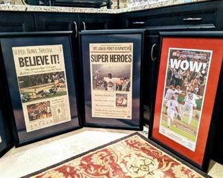 ST. Louis Cardinals baseball newspaper  rams football