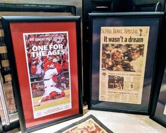 ST. Louis Cardinals baseball newspaper football