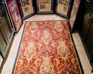 ST. Louis Cardinals baseball newspaper rams football and area rug