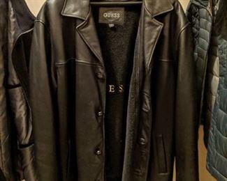 Designer leather  jacket / men's leather coat