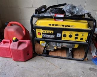 4800 watt continuous generator. Tested every year. Sell new for $599. Get it for much less!
