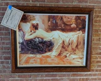 Pino lithograph. Large signed and numbered with COA