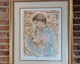 Edna Hibel lithograph