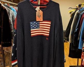 Ralph Lauren Polo American Flag Sweaters