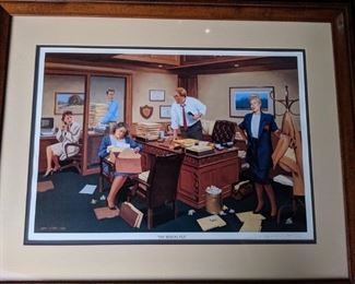 Jimmy Dyer Missing File Lithograph Signed and numbered