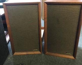 """Pair of Vintage Realistic Speakers Measures 22 1/2"""" tall x 13"""" wide x 12"""" deep."""