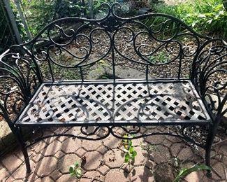 Iron Outdoor Bench