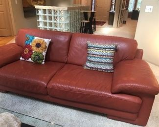 LEATHER COUCH - SET OF 2