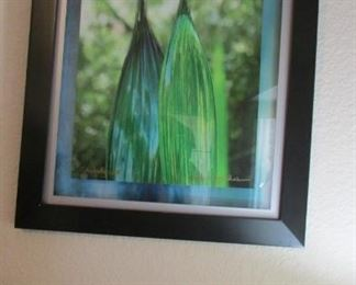 This is a photo of the blind glass blower in the Botanical Gardens photography is from owners sister