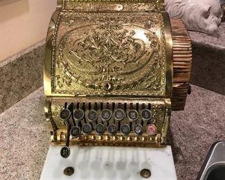 Antique restored National Bank cash register