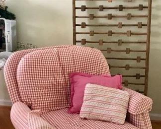 Checkered Arm Chair