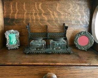 Vintage Inkwell Set
