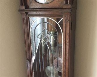 Old oak grandfather clock-wants to run!