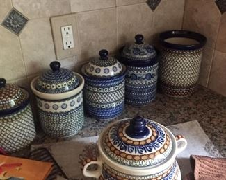 Extensive collection Polish pottery-including rare pieces