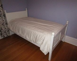 White Twin Bed (2 Available) - $100 each  (One like new mattress available - $50)