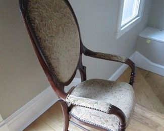 Accent chair side view
