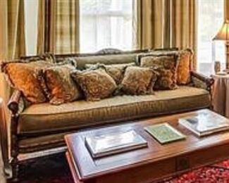 Sofa Shown with 7 Pillows