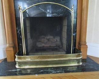 Fireplace Screen & Brass Bumper