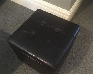 Leather Storage Cube (2 available) - $20 Each