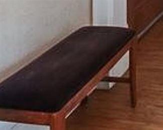 Brown Velvet Bench