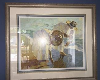 """Framed Signed & Numbered Serigraph - Dan McCaw """"Harmony"""""""