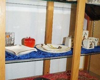 spaghetti glass, tea set, collectibles