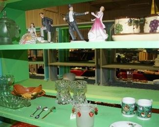 figurines, glassware