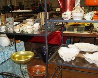 California pottery, aluminum bowls, tea seats,