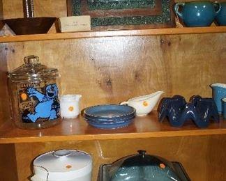 Cookie Monster jar, decor,  sugar and creamer