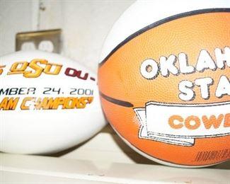 Signed OSU football and basketball