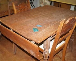 vintage table with chairs