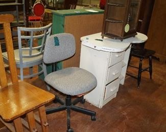 chairs, vintage dressing table