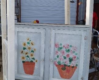 arbor, garden cabinet