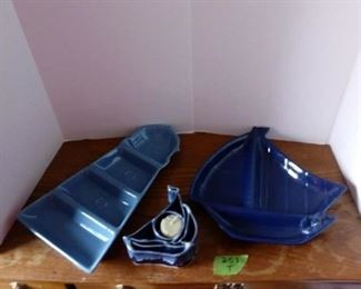 NAUTICAL SAILBOATS LIGHT HOUSE SERVING DISHES