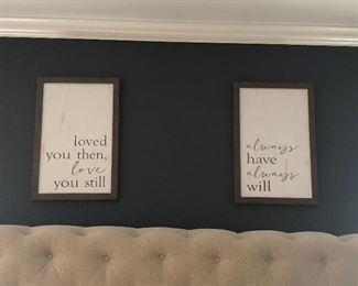 home decor above master bedroom
